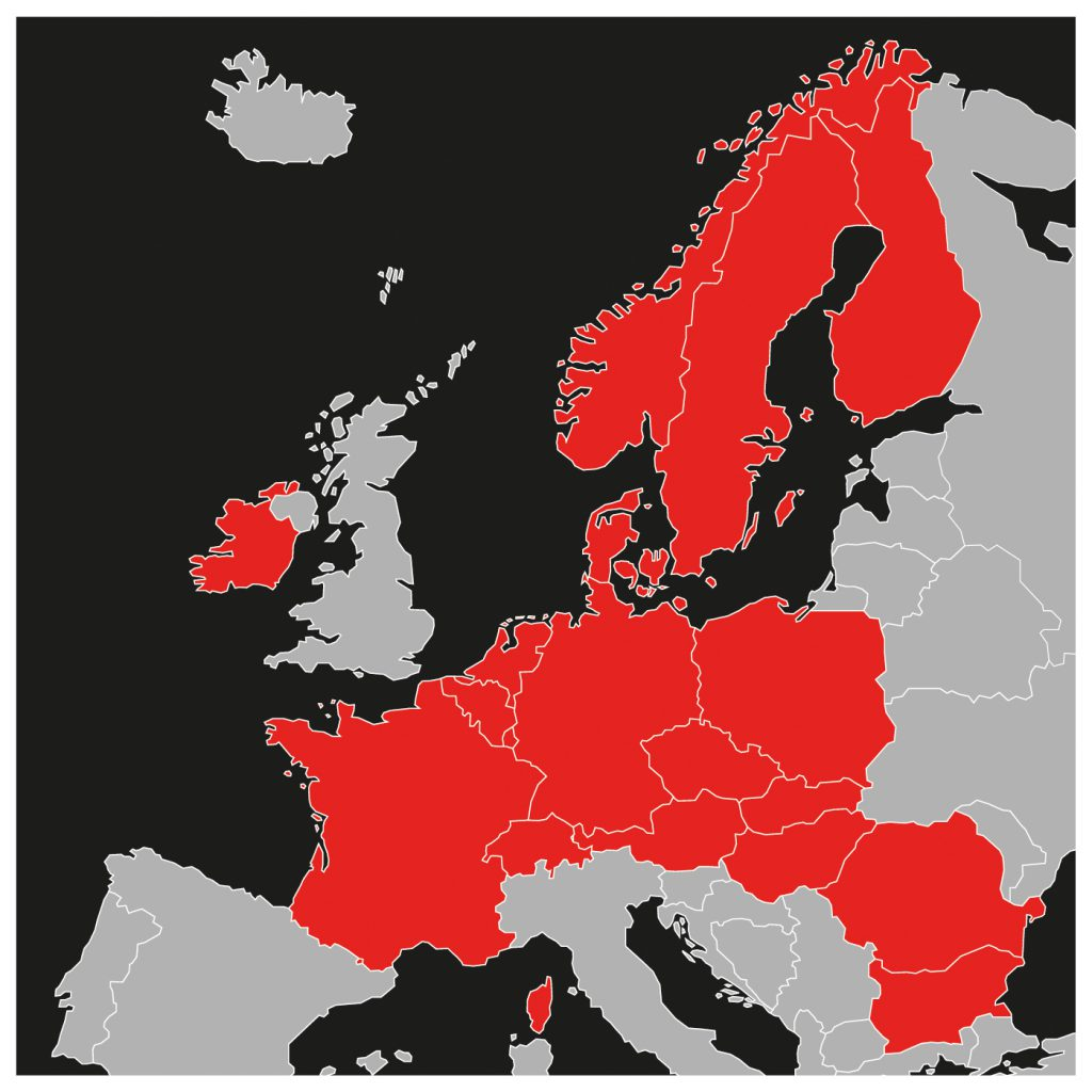 Transtar logistics Regional Coverage Europe card